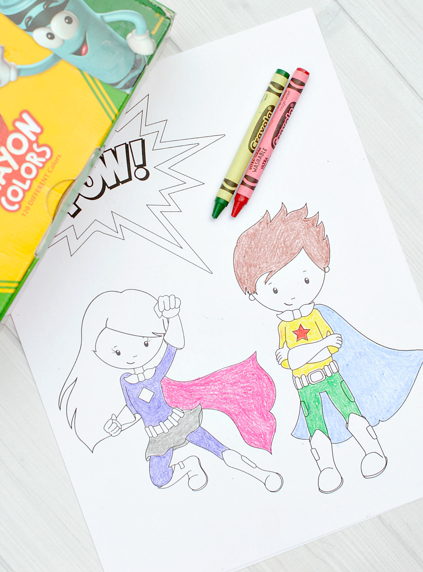 Free Printable Superhero Coloring
