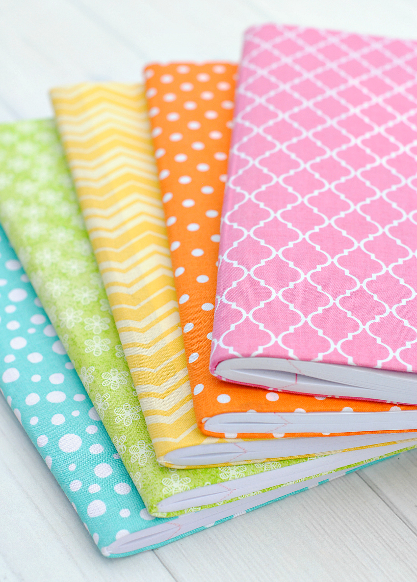 How To Make A Fabric Book Cover ~ Diy planners journals to make or print at home