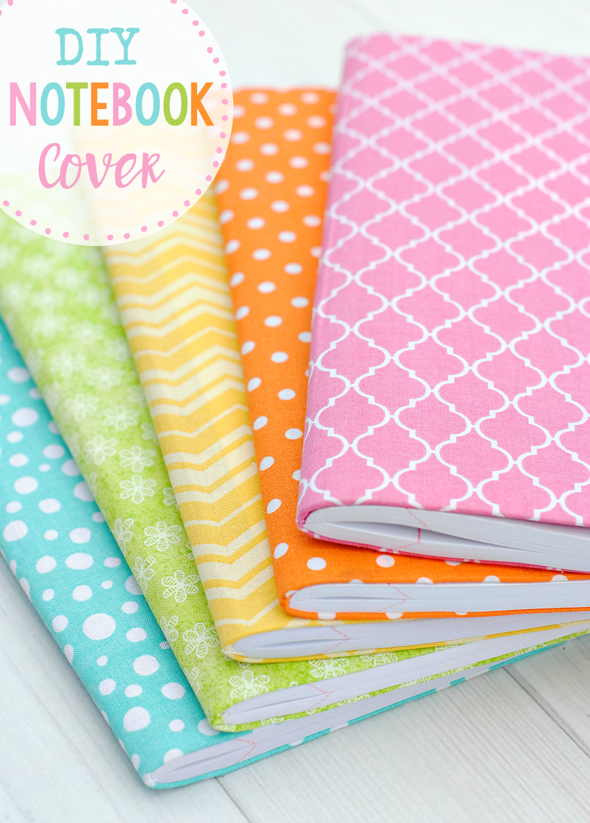 DIY Notebook Cover-A cute and easy way to make your own notebook, planner or journal. You'll love making this so much you might make a million! #journal #planner #officesupplies #backtoschool
