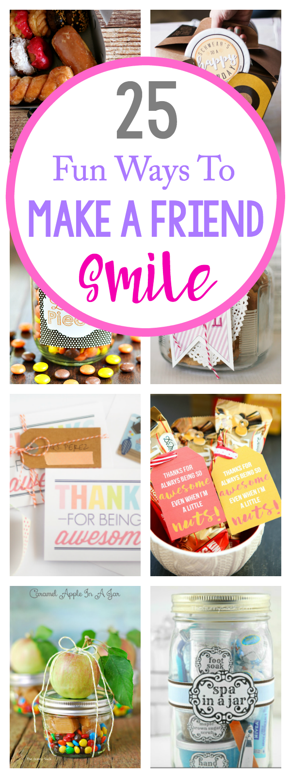 25 ways to make someone smile crazy little projects Easy gift ideas for friends