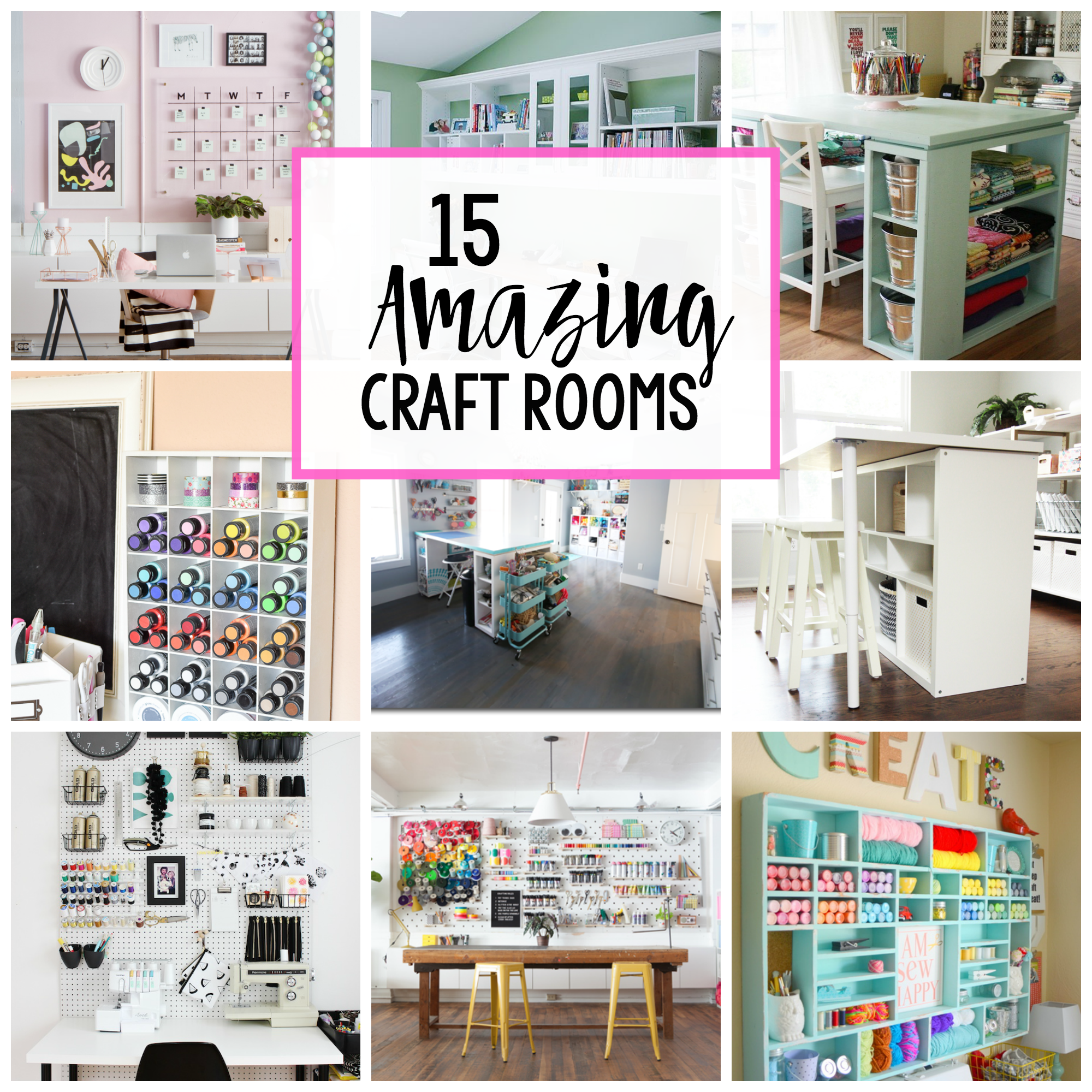 Pictures Of Craft Rooms Craft Room Inspiration  Crazy Little Projects