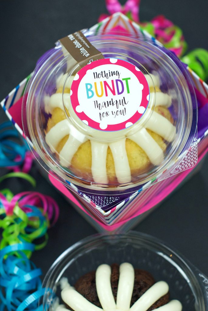 Nothing Bundt Thankful Gift Idea: Great gift idea for a friend!