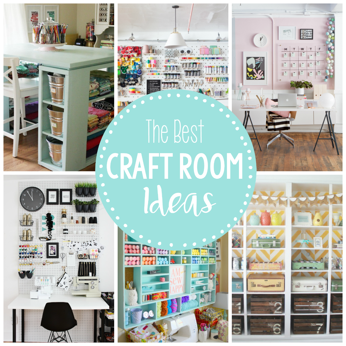 35 Home Storage Ideas Room By Room: 15 Fun & Amazing Craft Room Ideas