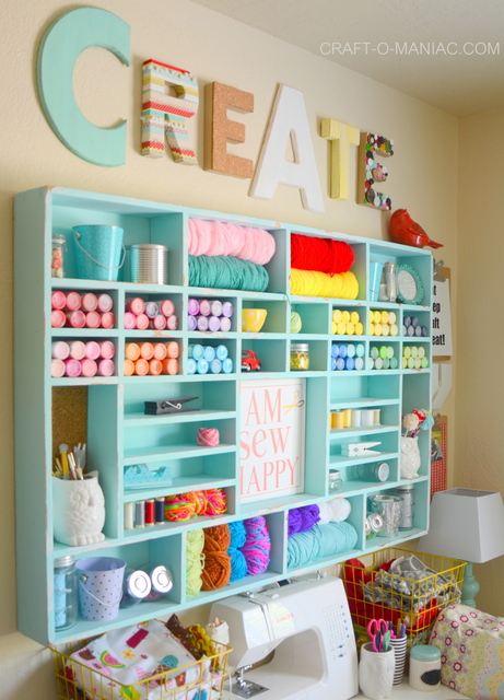 15 Fun Amazing Craft Room Ideas Crazy Little Projects