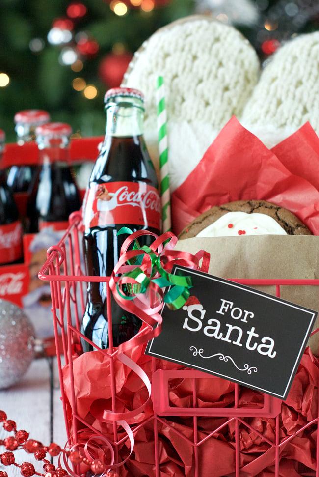 Gift Basket for Christmas-Cookies and Coke for Santa