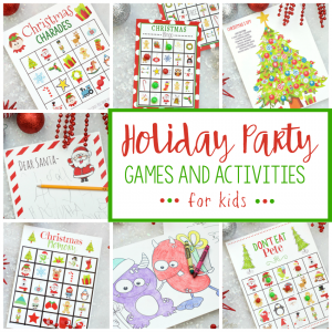 Free Printable Holiday Party Games for Kids