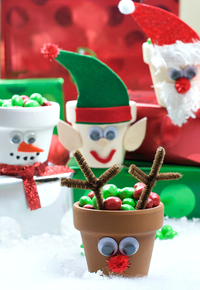 holiday craft idea character pots projects 2184
