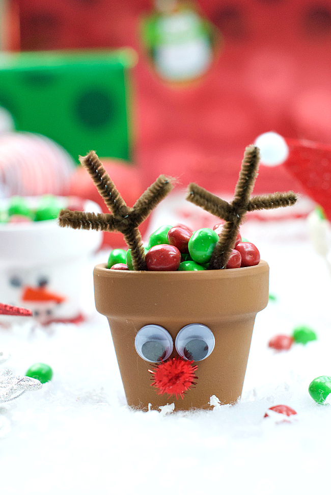 Reindeer Candy Pot