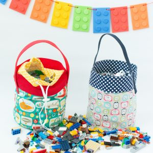 Fabric Lego Bucket Tutorial