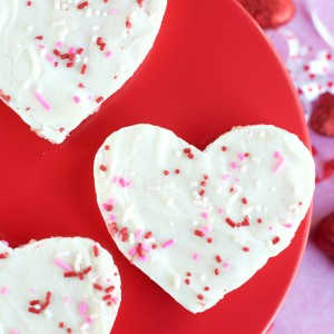 Cherry Chip Valentine's Krispie Treats