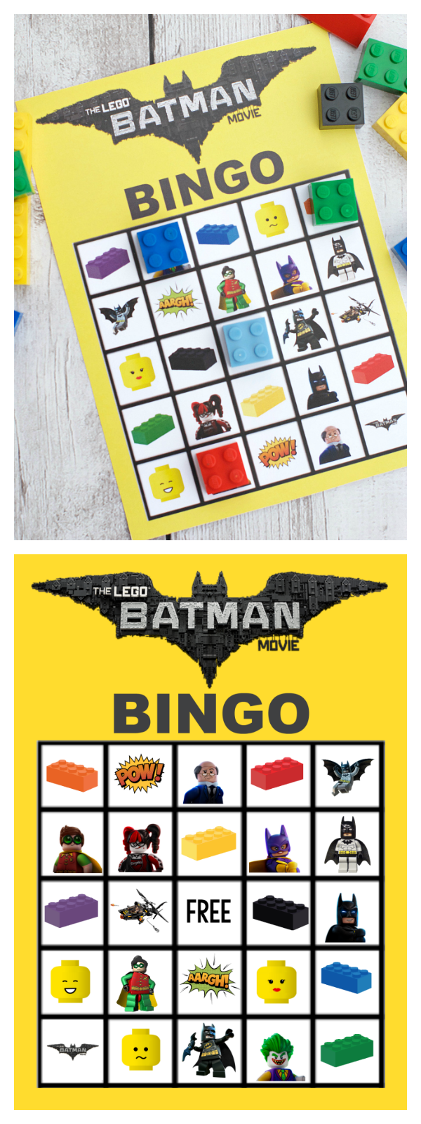 Lego Batman Bingo Game Crazy Little Projects