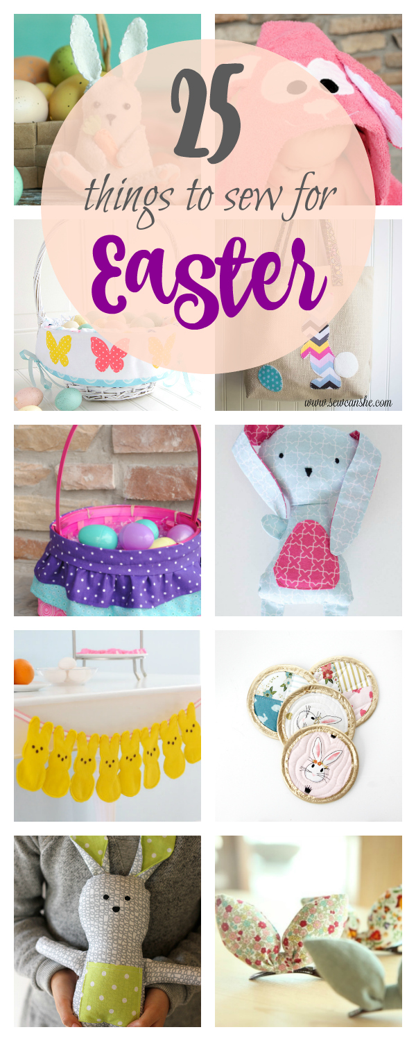 25 Cute Easter Sewing Patterns-Everything from baskets to bunnies, dresses to decor, you're going to be loving these cute Easter sewing patterns! #easter #sewingpatterns #freepatterns #sew