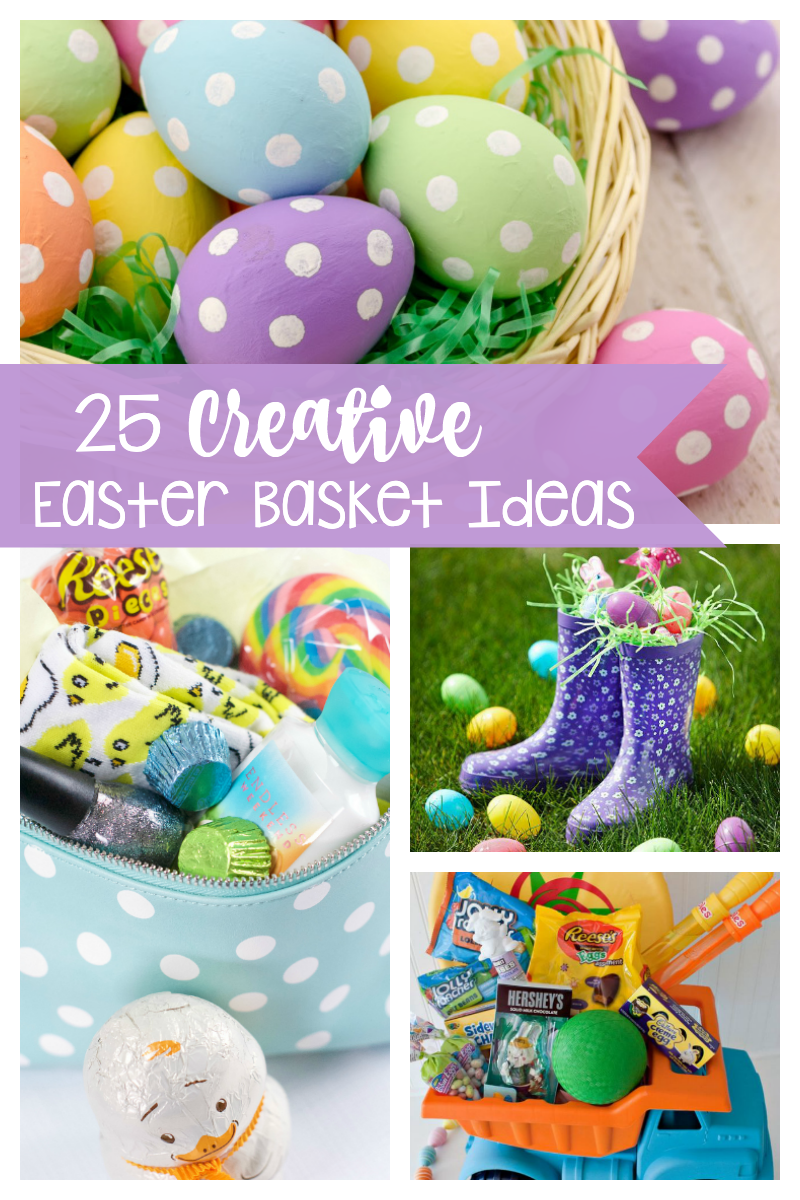 Easter Basket Ideas for Kids-These cute and creative ideas will have you thinking outside the basket this year! #easter #easterbaskets