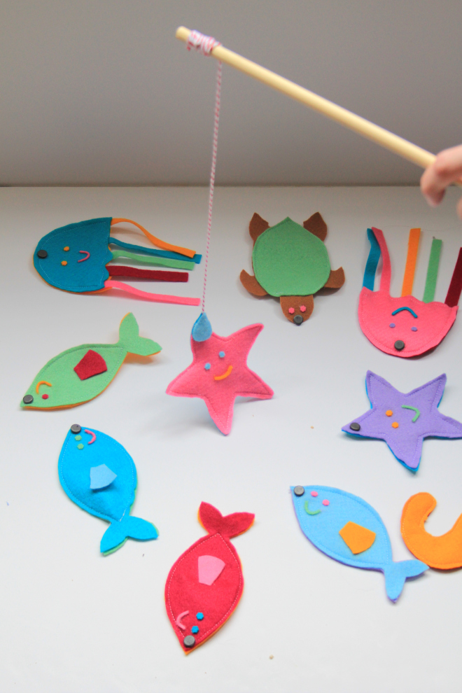 25 toys to sew crazy little projects for Kids fishing game
