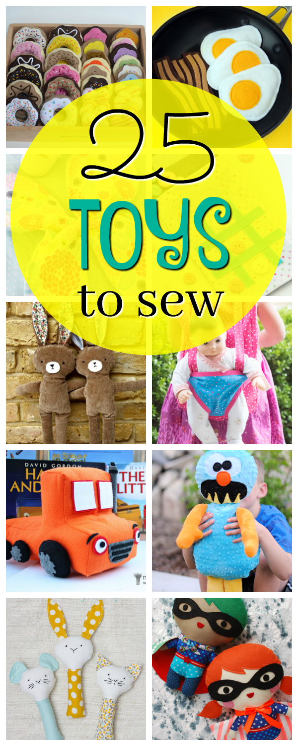 Free Toy Patterns to Sew for the Kids-These make great gifts for the kids and fun sewing projects for you! #sew #sewing #patterns