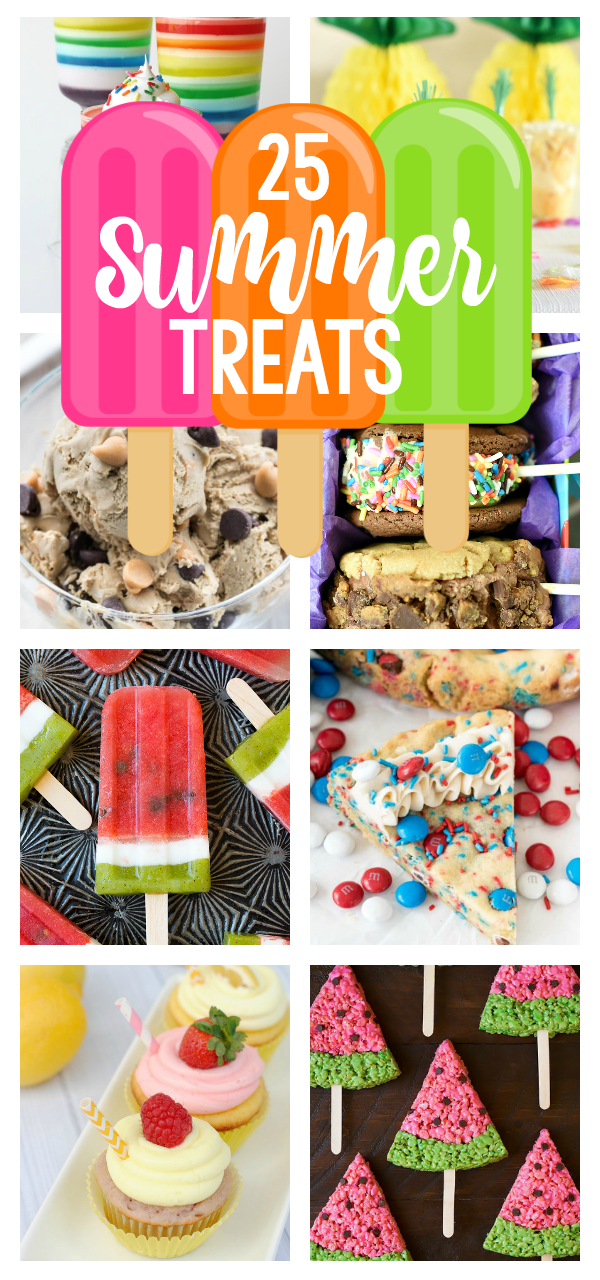 25 Summer Desserts and Treats-Make these great summer desserts for any occasion this summer or just for fun! They are easy, taste great and perfect for summer! #summer #dessert #treats #summerfood #summerrecipes