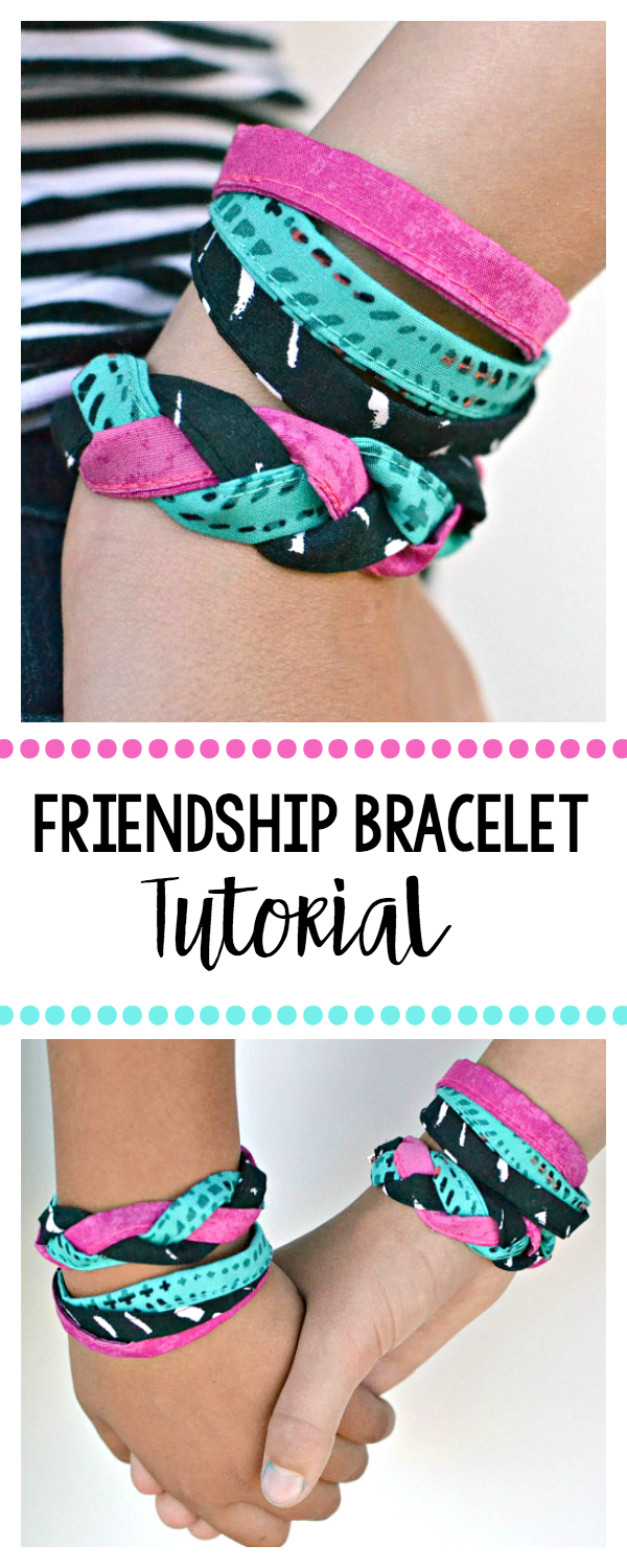 how to make a friendship bracelet with bias tape