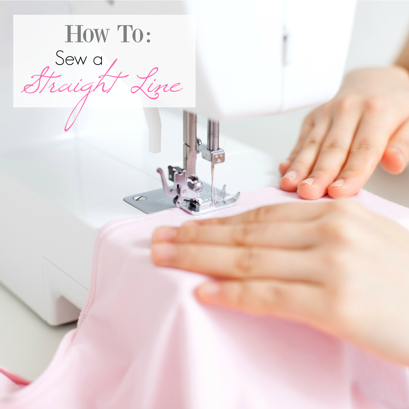 How to Sew a Straight Line with these easy, free learn to sew online sewing classes. #learntosew #sew