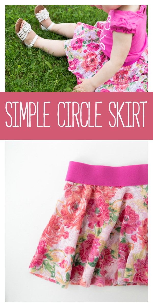 Easy Skirt Pattern-Sew this cute and simple circle skirt for little girls. This free pattern is so easy to follow you'll want to make a million! #sewing #sew #pattern #crafts