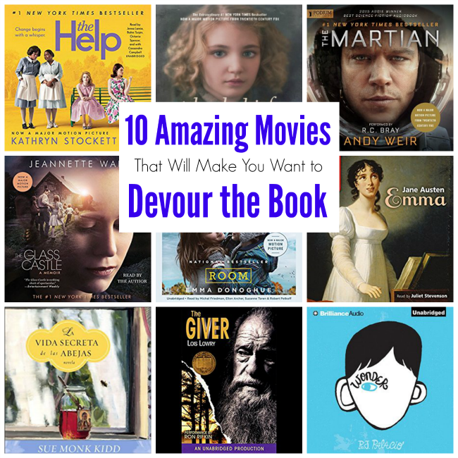 Amazing Books Made into Movies