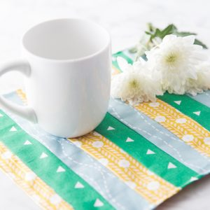 Easy 20 Minute Project: Sew a Mug Rug