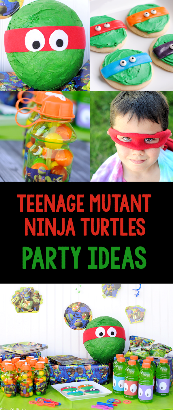 Teenage Mutant Ninja Party Ideas-Invitations, Games, Decorations, Treats, Favors and Fun! All the ninja turtle ideas you need. #party #tmnt #teenagemutantninjaturtles #kidsparty