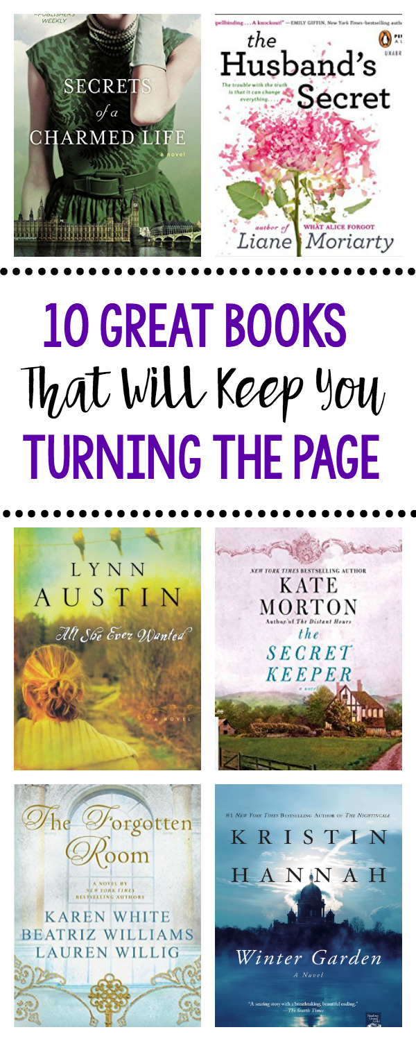 10 Great Books that Will Keep You Turning the Page-These good books to read for women are going to have you neglecting the kids because you will want to keep reading! #books #read #bookrecommendations