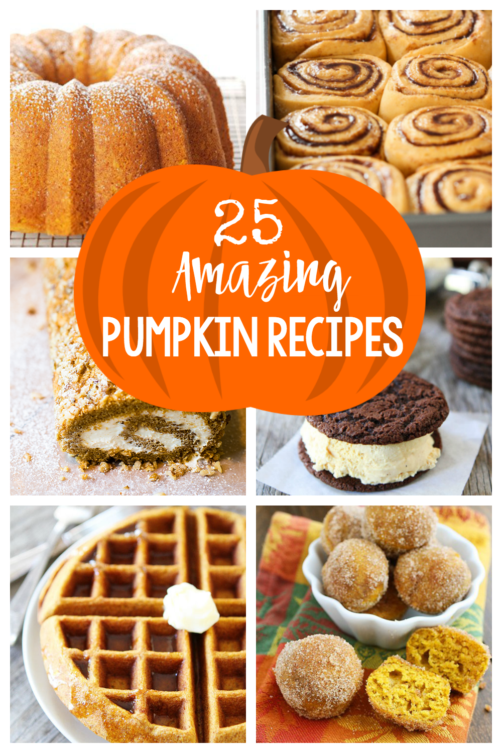 Nothing says Autumn like amazing pumpkin recipes. They make the house smell great on a crisp Fall day while they bake and they make you feel warm and cozy when you eat them. If you're a pumpkin lover you're going to love these easy to make pumpkin recipes-everything from breakfast to dessert. #halloween #pumpkin #pumpkinspice #pumpkinbread