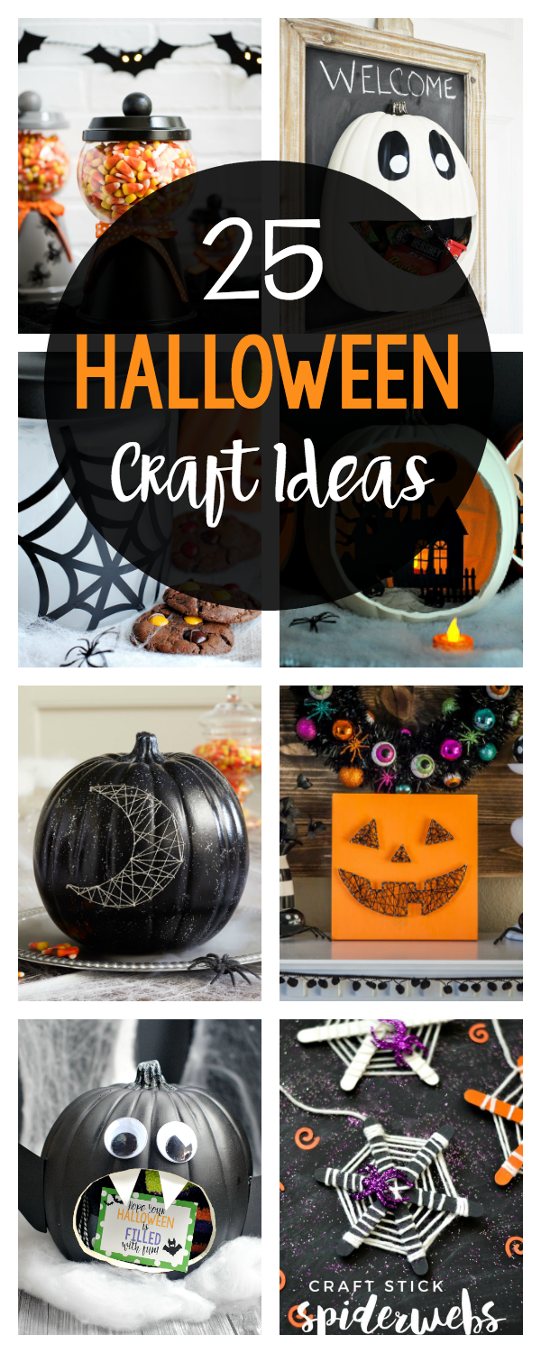 25 Fun and Simple Halloween Craft Ideas-You're going to LOVE these cute Halloween crafts to make this year. So many fun ideas! #halloween #crafts #decor #halloweencrafts #halloweendecor