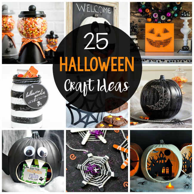 Halloween Crafts-So cute, so festive and so fun! You're going to love all of these easy Halloween craft ideas and have a blast making them. #halloween #crafts
