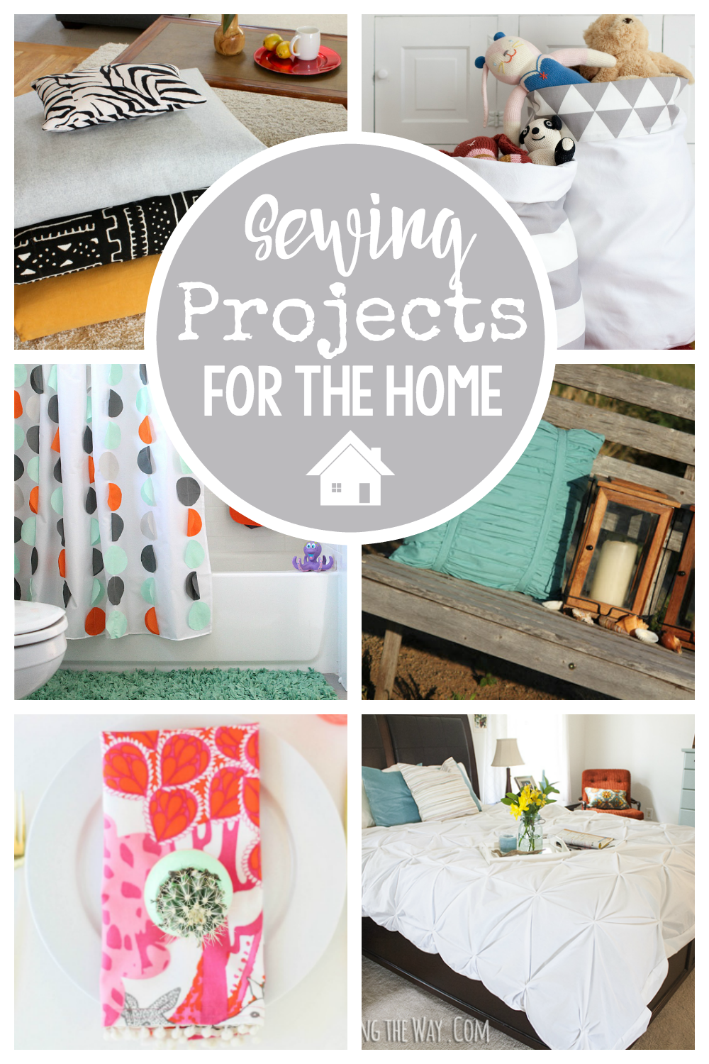 Fun Sewing Projects for the Home-You will love all of these home sewing projects, ideas and inspiration. From curtains to pillows, bed skirts to slipcovers! #sew #pattern