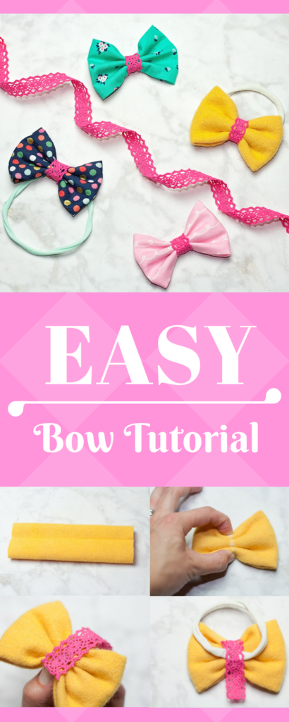 Learn how to make hair bows for little girls or baby girls with this easy hair bow tutorial. DIY hair bows that turn out so cute! #hairbows #accessories #accessoriesforgirls #diyhairbows #bowsforgirls #bowsforbaby #babybows #babyaccessories #babysewingpatterns
