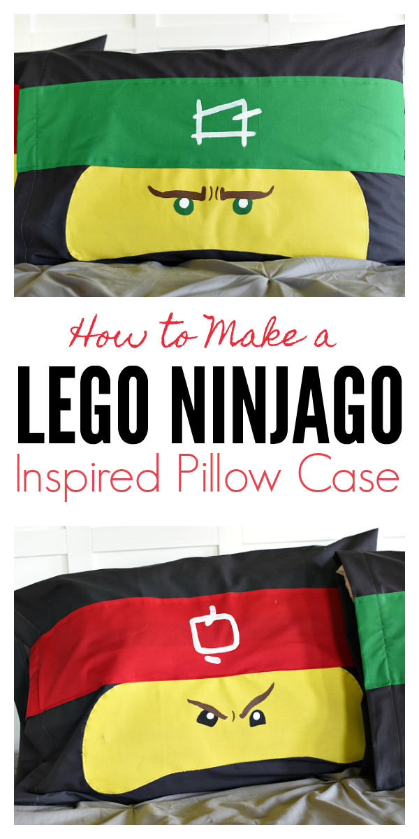Ninja Pillowcases for Kids-Sew one of these cute pillowcases for your kids! They will love these ninja pillows! #ninjago #sewing #freepatterns #boys