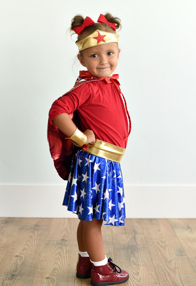 Toddler Wonder Woman Costume DIY  sc 1 st  Crazy Little Projects & Wonder Woman Costume Pattern for Kids - Crazy Little Projects