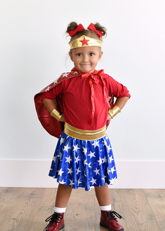 Wonder Woman Costume Girls DIY