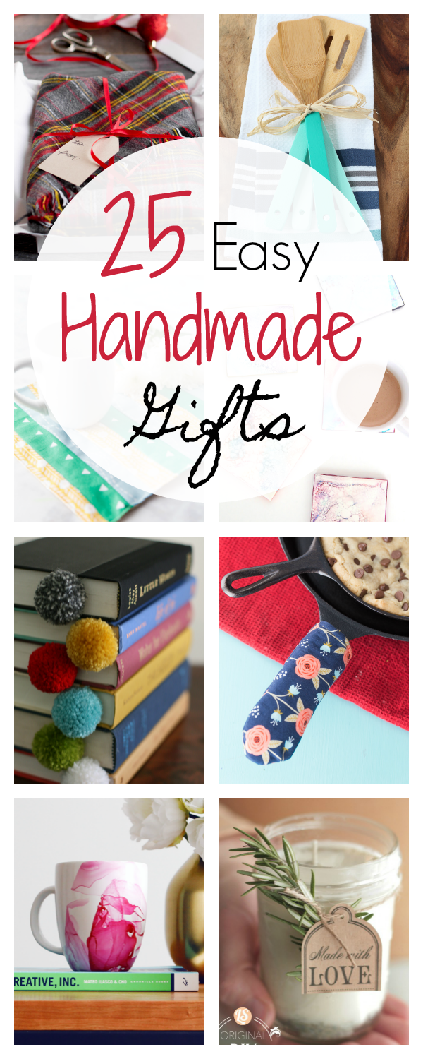 25 Quick And Easy Homemade Gift Ideas Crazy Little Projects