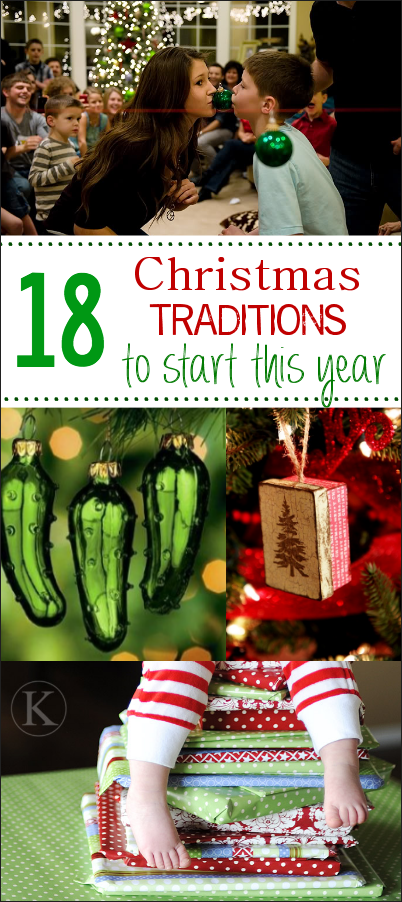 18 Fun Christmas Traditions to start with your family this year! These fun Christmas tradition ideas will bring a lot of joy to your family. #christmas #christmastraditions #holidays