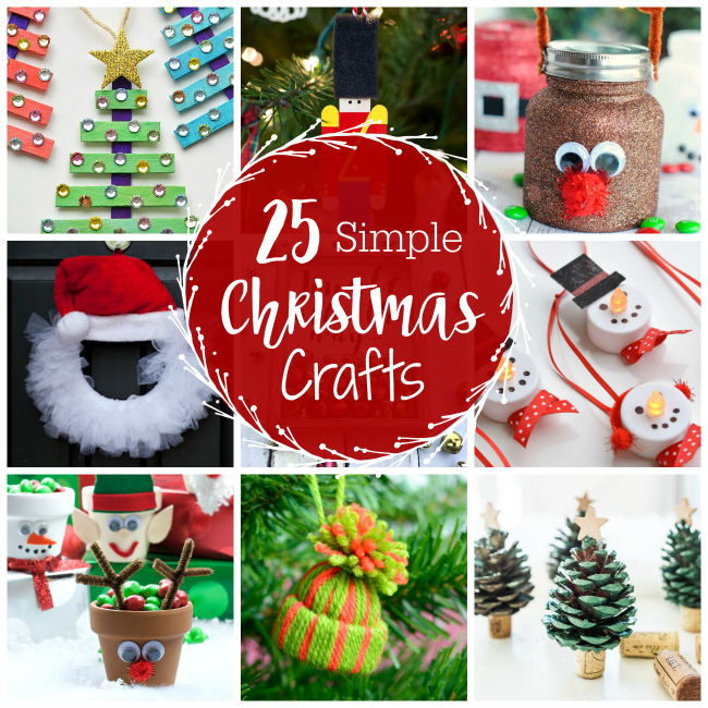 25 cute and simple christmas crafts for everyone