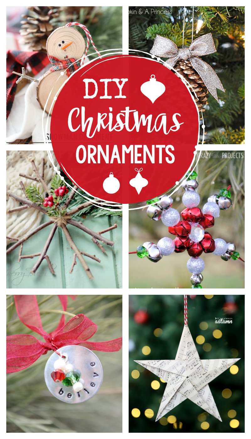 25 DIY Christmas Ornaments to make this year