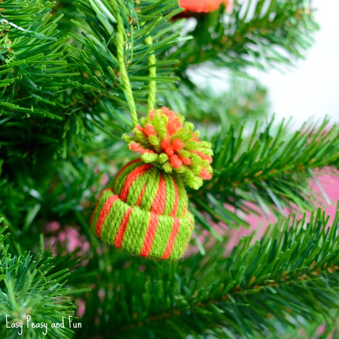 Unique Christmas Tree Ornament.25 Cute And Simple Christmas Crafts For Everyone Crazy