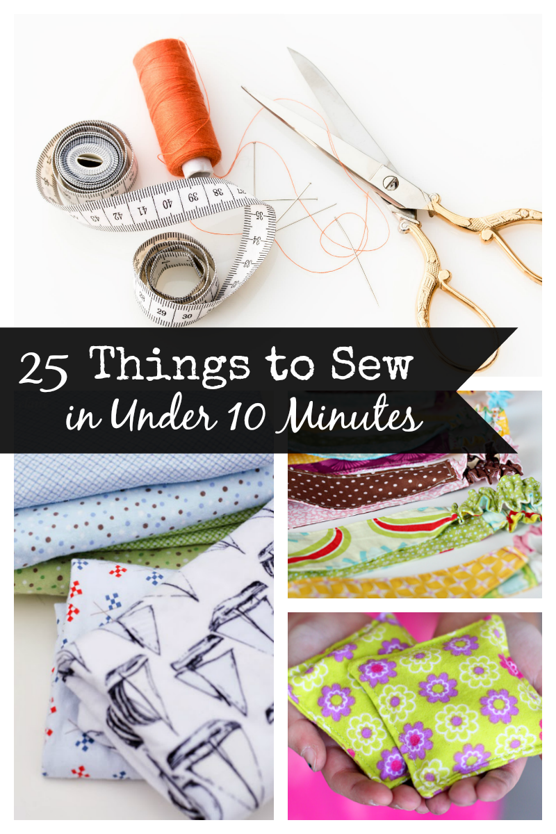 25 Easy Sewing Projects that can be sewn in under 10 minutes. Quick beginner sewing patterns that you are going to love! #sewingpatterns #sew #sewing