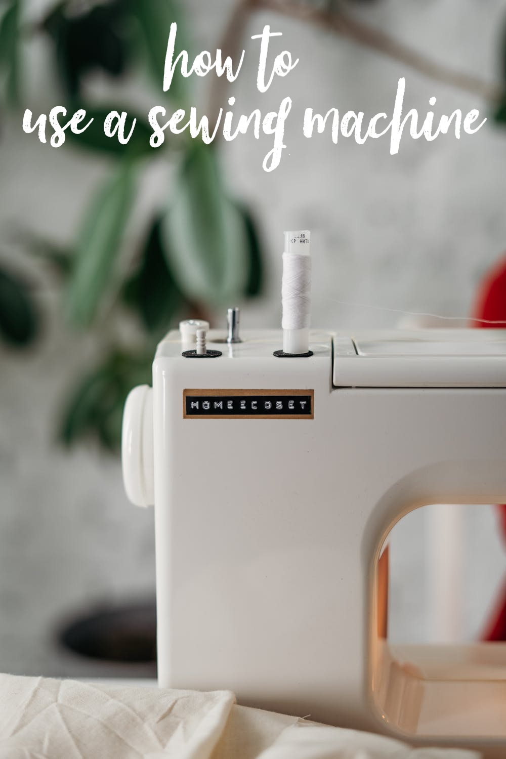 How to Use a Sewing Machine: Learn how to use your sewing machine from threading to winding bobbin, sewing, backstitching, and more. #sew #sewing