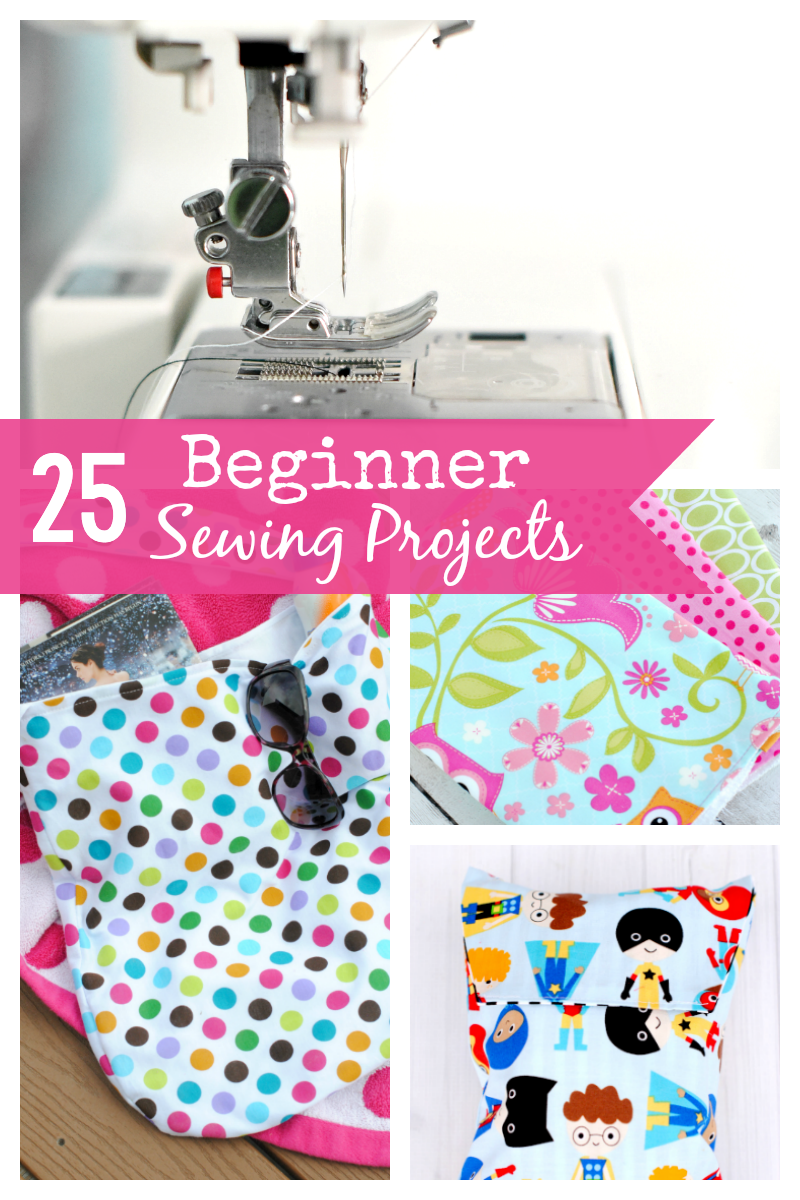Beginner Sewing Projects for the new sewing enthusiast! 25 patterns and sewing projects that are easy to sew and a great way to practice your skills #sewing #sewingskills #learntosew #howtosew #easysewing