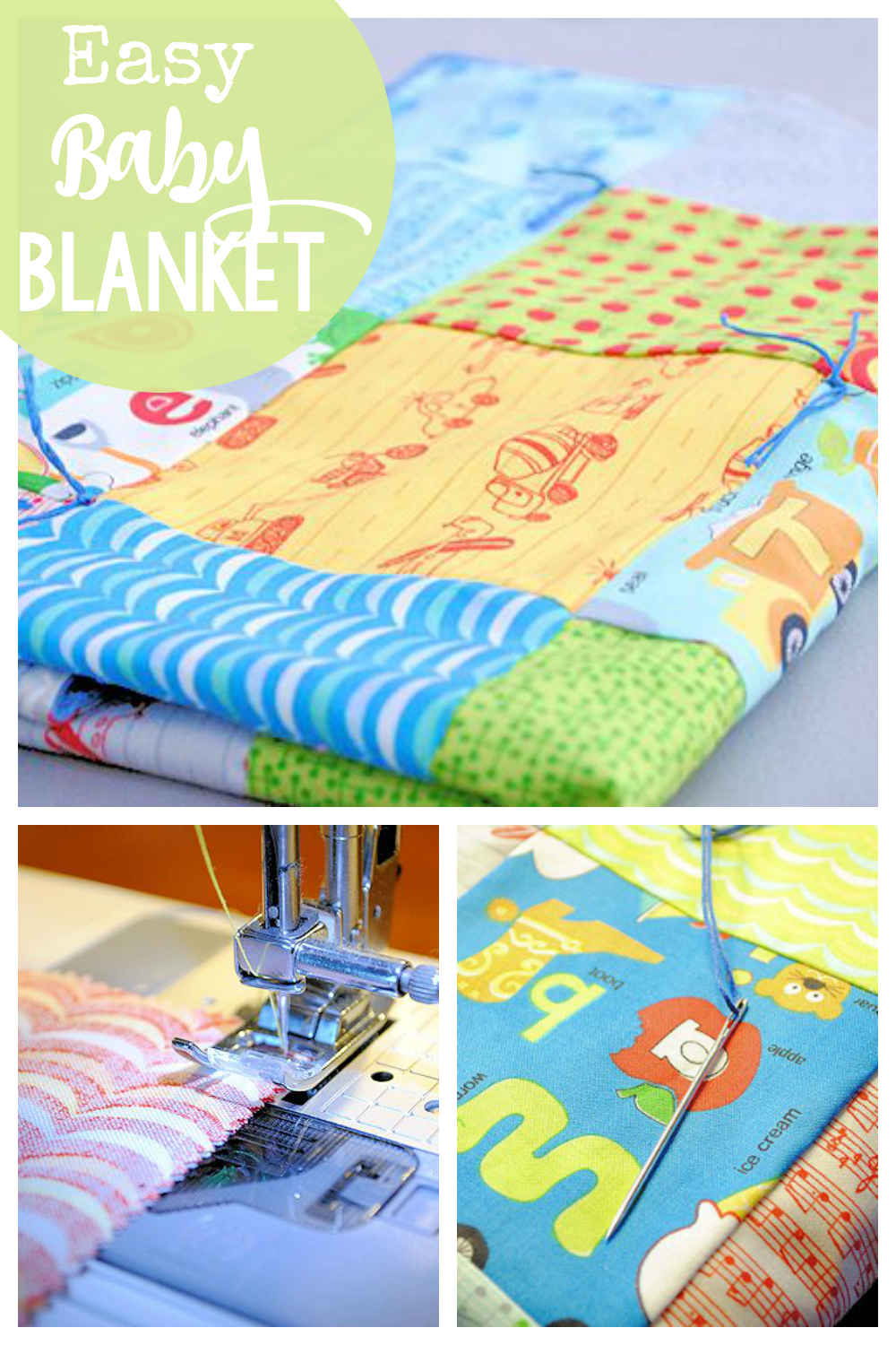 Easy Baby Blanket Patterns To Sew Crazy Little Projects
