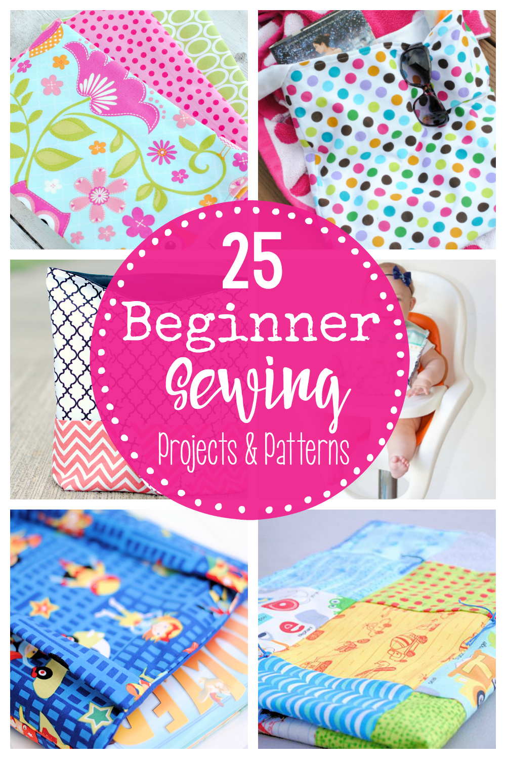 Easy Beginner Sewing Projects and Patterns-Grab these free and easy sewing projects that are perfect for beginning sewers and anyone who loves an easy sewing pattern. #sewing #learntosew #sew #patterns #freepatterns