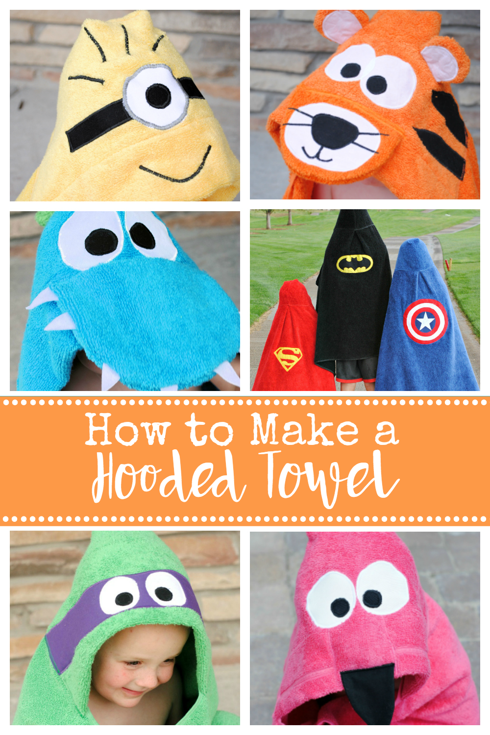 How to Make a Hooded Towel-Sew a cute hooded towel for babies and toddlers and even older kids with this easy to follow hooded towel pattern. #sew #sewing #baby #patterns