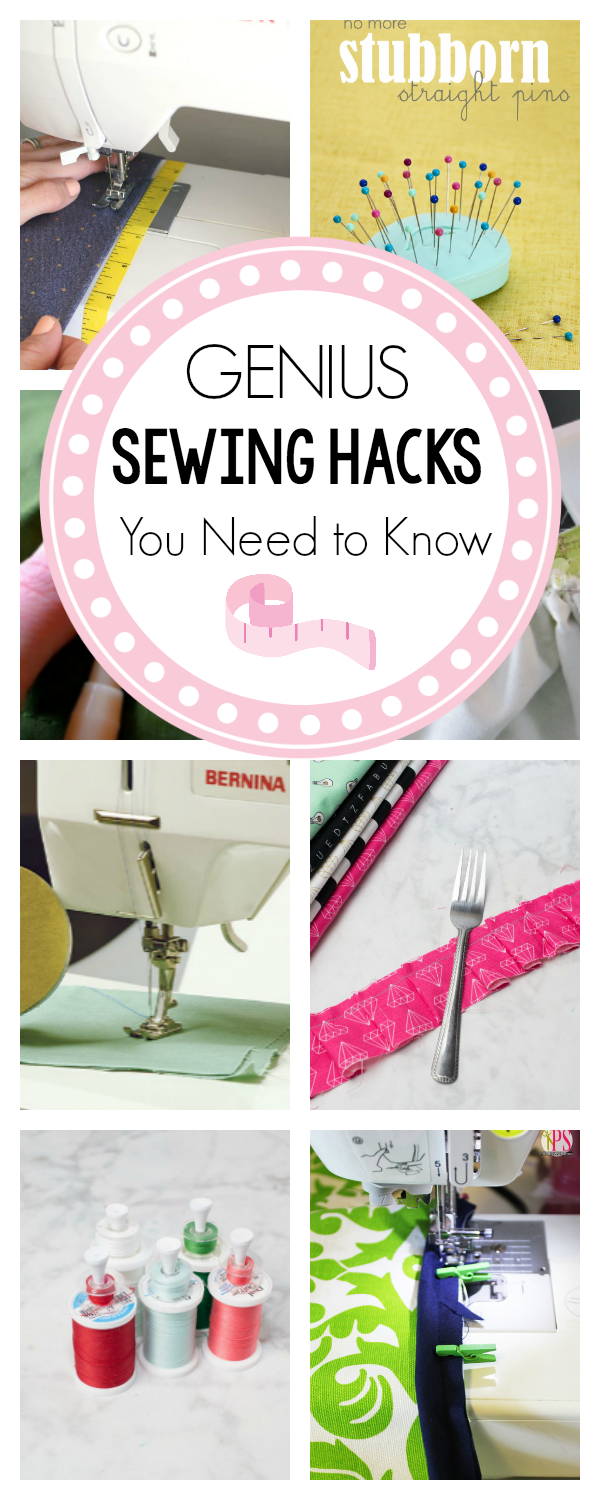 Genius Sewing Hacks You Need to Know-These sewing tips and tricks will have you sewing like a pro! #sewing #sewingtips #learntosew #sew