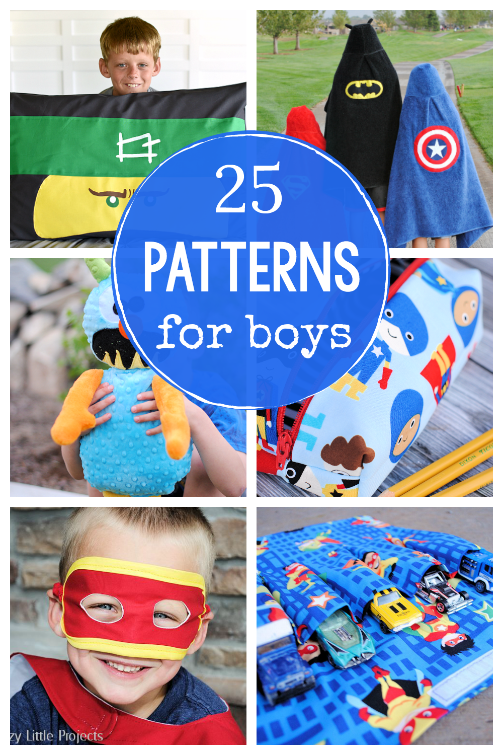 Free Sewing Patterns for Boys-These are fun things to sew for little boys like superheroes and ninjas, capes and masks! Your kids will love these great sewing patterns for boys. #sew #sewing #pattern