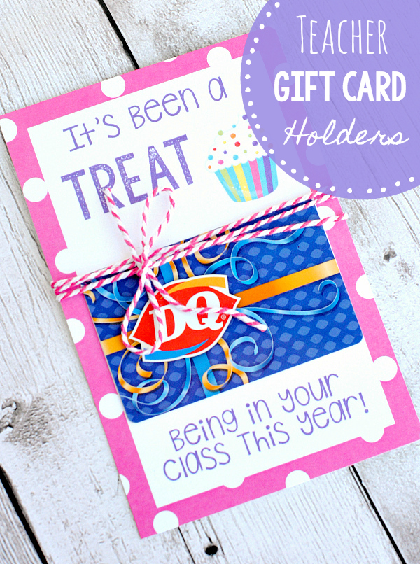 Free Printable Teacher Gift Card Holders-These Make a Great Teacher Gift! They are super easy to put together and something the teacher will love! #teacherappreciation #teachergifts #teacherappreciaationideas
