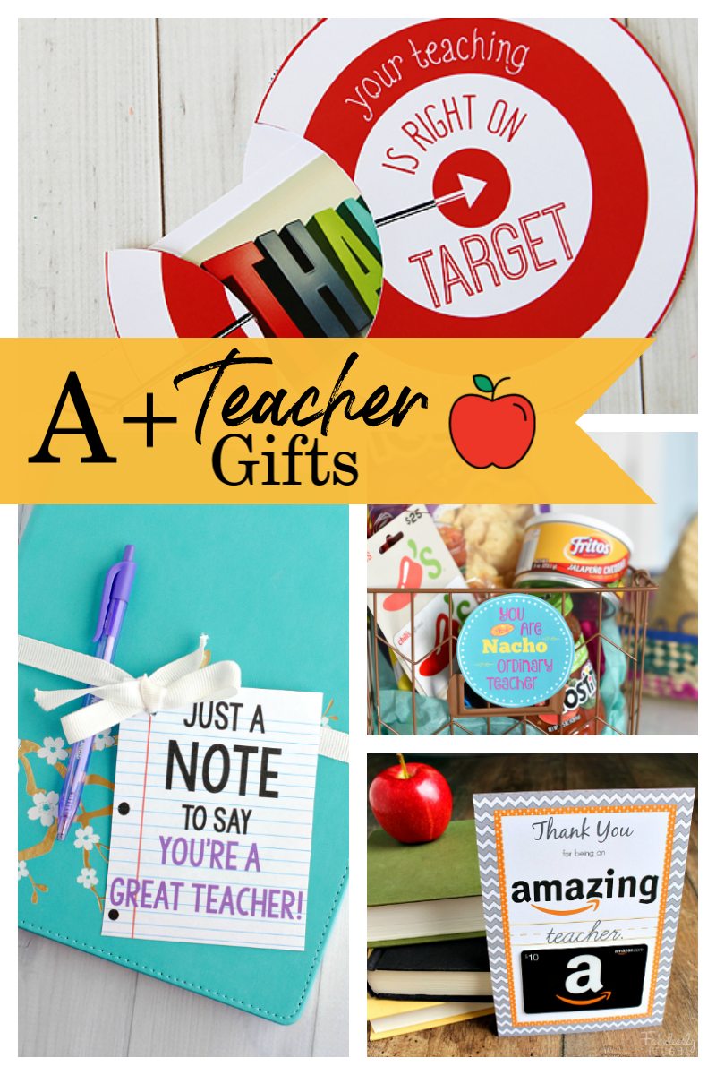 25 Teacher Gift Ideas: These fun gifts for teachers are cute and fun to give and great to receive. #teachergifts #giftsforteachers #teacherappreciation
